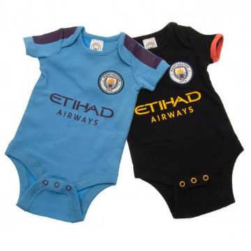 Manchester City Babygrow PL 9-12 Months - (Pack of 2)